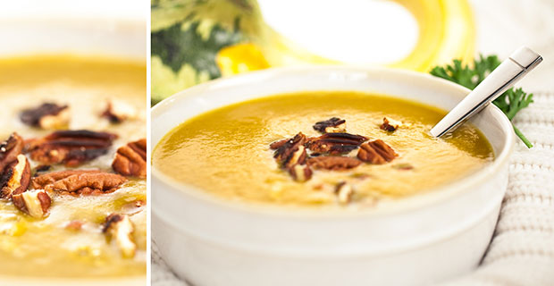 Cauliflower Soup Velvety Spinach Soup Maple and Butternut Squash Soup ...