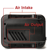 air intake and output